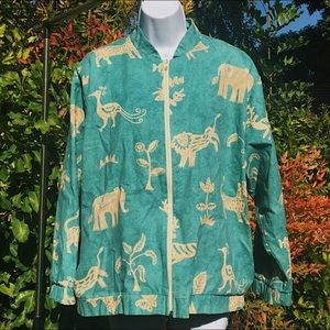 Animal patterned jacket 🙈